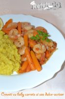 Shrimps with baby carrots by DanutzaP