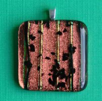 Dichroic Copper Fused Glass by FusedElegance