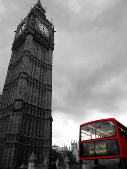 Big Ben and Double Decker Red Contrast by AgtBauer24