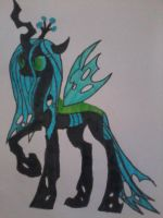 Queen Chrysalis by amyrosereed1217
