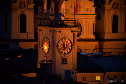 Tower clock by FabianFynn