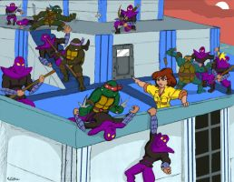 TMNT: April's Rooftop Rescue by oldmanwinters