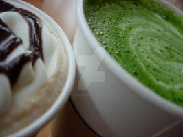 Green Tea Latte by Fleur2Minuit