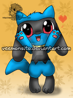 Chibi Riolu by Veemonsito