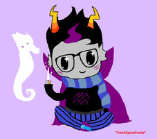Eridan with lusus by DeadSpacePanda
