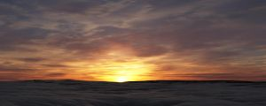 Snowy Sunset by Gannaingh32