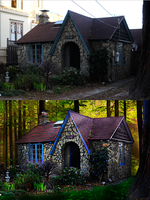Before and After Hobbit House by Aisuruitachiwakoi