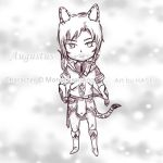 Chibi Augustus - Monochroming Sketch commission by hase-illustration