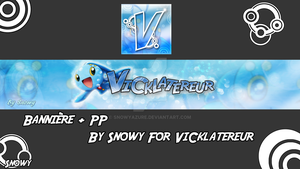 (COMISSION) Banner and  PP  Manaphy  ViCklatereur by SnowyAzure