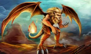 Flame Manticore by Zodiart