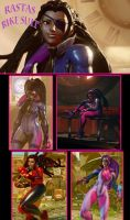 SFV Juri - Rastas Bike Suit by Tanooki128
