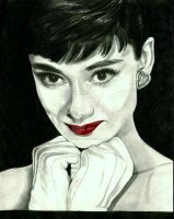 Audrey Hepburn by girlinterruptedbyart