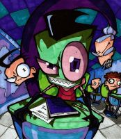 Invader Zim- prismacolored by Shigdioxin
