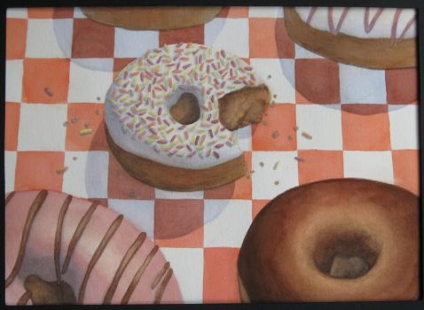 Donuts by drawmeapicture
