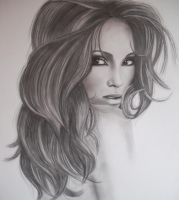 JENNIFER LOPEZ by AngelasPortraits