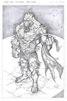 Killer Croc A4 Commission by Carl-Riley-Art