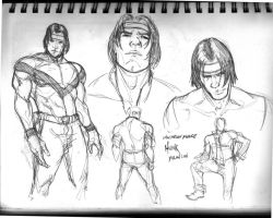 Voltron Character Sketches: Hunk by NStevenHarris