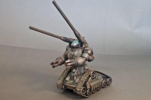 One-Year War Diorama Guntank by HobbyV