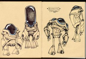 Sketchbook Doodles - R.O.B.O.T.S 02 by Cre8tivemarks