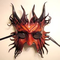 Horned Satyr Leather Mask by teonova