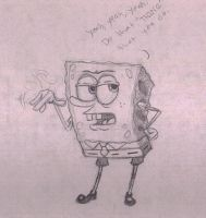 SpongeBob with Attitude by LexLuthorFan