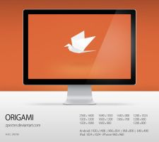 wallpaper 76 origami by zpecter