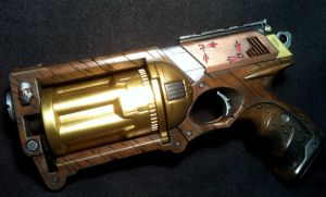 Faux Wood Steampunk Maverick WIP 2 by JohnsonArms