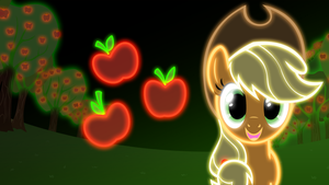 Neon Applejack Wallpaper by ZantyARZ
