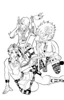 video game girlz Inked by culdesackidz