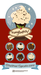 Christmas Cupcakes Icons by Aramisdream