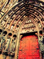 The Cathedral Notre-Dame -door by yuya-yo