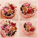 Pink Rose pocket Mirror by Fraise-Bonbon