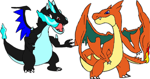 Mega Charizard X and Y by tanlisette