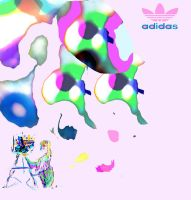 Adidas paint by LaurieLefebvre
