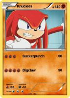 Sonic Pokemon Cards-Knuckles by Qulli2