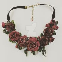 Buncha Roses Necklace by TinfoilHalo