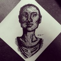 Post-it Portrait by LSD-Dreams