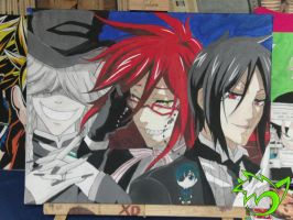 .:Mega Pic part 2 Grell~Sebby~Undertaker:. by PinselTheExperiment