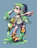 Splatoon inklings(Girl)-Fan art by kaiser-nagai