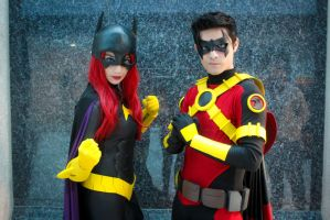 Batgirl and Red Robin by lordwosh