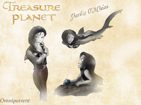 Treasure Planet Oc:  Shardis O Mhera by Omnipotrent