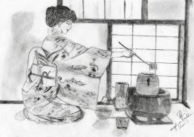 Traditional Japanese tea ceremony by sanmitamaya