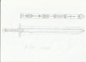 Skywanderer's Photon Saber Sketch #2 by x-Madero-x
