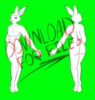 Bunny Girl Reference Base by BagelCollector