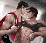Bruce X Clark .yaoi tag. by sakimichan