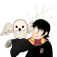 Harry and Hedwig by ViciousJulious