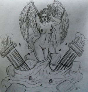 Euryale: Lady of Lust Statue Concept Sketch