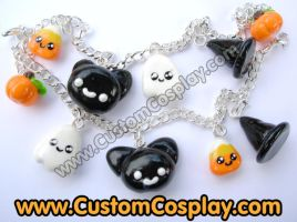 Halloween charm bracelets by The-Cute-Storm