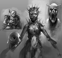 Random Sketches by AaronGriffinArt