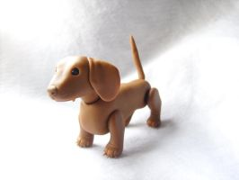 Posable Dachshund by vonBorowsky